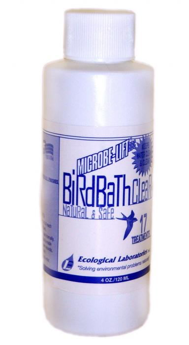 Microbe-Lift 4 Ounce Natural Bird Bath Clear