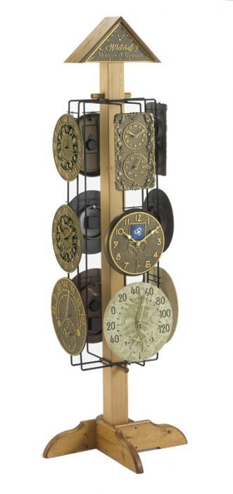 Whitehall Clock & Thermometer 12-Piece Assortment w/ Free Display