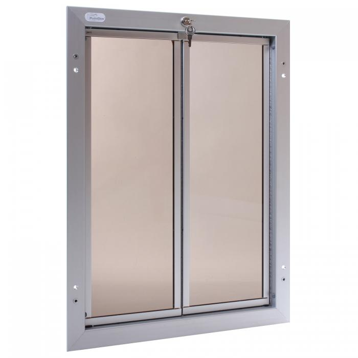 PlexiDor X-Large Exterior Door Application Performance Pet Door, Silver