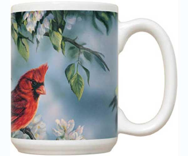 Fiddler's Elbow Springtime Jewel Cardinal 15 oz Mug