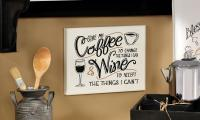 Giftcraft Note to Self, MDF Wall Plaque, Give Me Coffee
