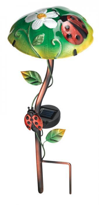 Regal Art & Gift Solar Mushroom Stake Ladybug
