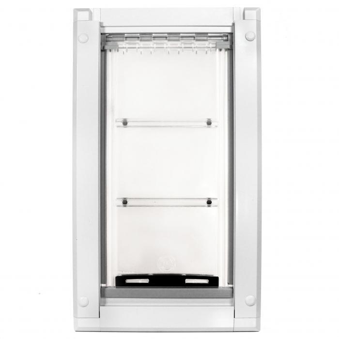 "Endura Flap Pet Door, Door Mount, Large Single flap - 10""w x 19""h, White Frame"