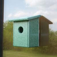 Songbird Essentials Recycled Plastic Nest View Window Bird House