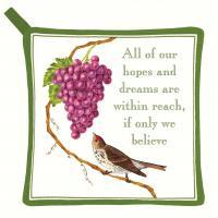 Alice's Cottage Purple Grapes Potholder