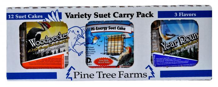 Pine Tree Farms Variety Suet Pack Year Round, Hi-Energy, Woodpecker