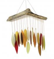 Blue HandWorks Autumn Leaves & Driftwood Glass Chime