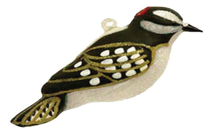 Cobane Studio Downy Woodpecker Ornament