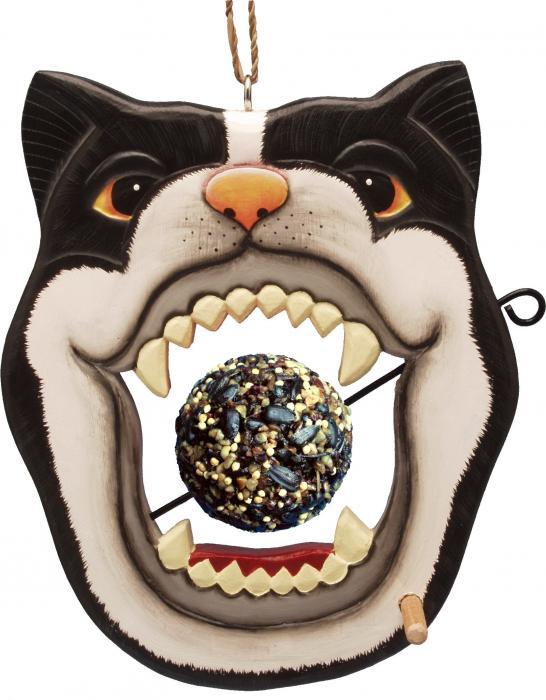 Bobbo Cat Open Mouth Skewer Feed Ball Bird Feeder