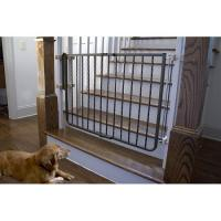 Wrought Iron Decor Dog Gate - Bronze