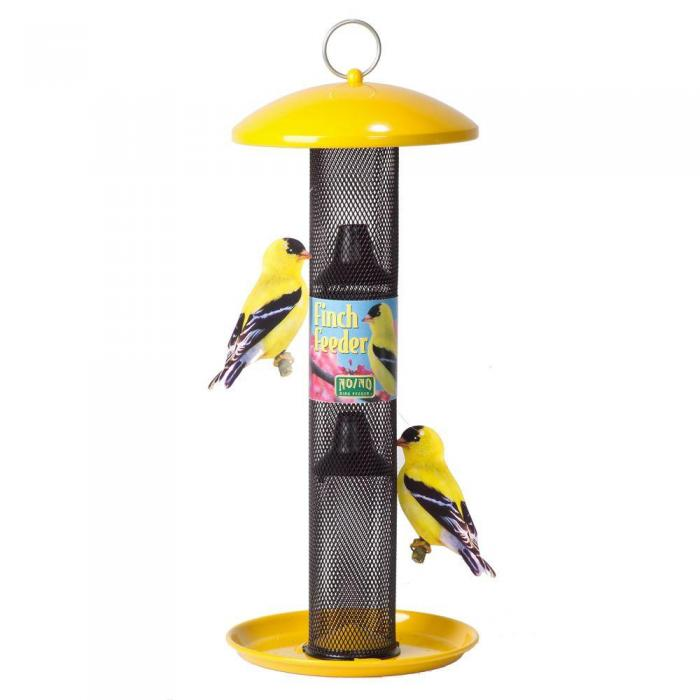 No-No Feeder Yellow Straight Sided Finch Bird Feeder