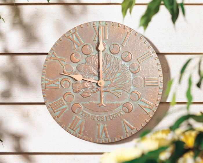 Whitehall Times & Seasons Clock - Copper Verdi