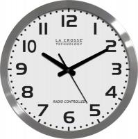 "La Crosse Technology 16"" Brushed Metal Atomic Analog Wall Clock"