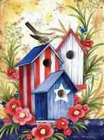 Toland Birdhouse Trio Garden Flag