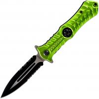 Zombie Hunting Stiletto Style Spring Assisted Open Pocket Knife