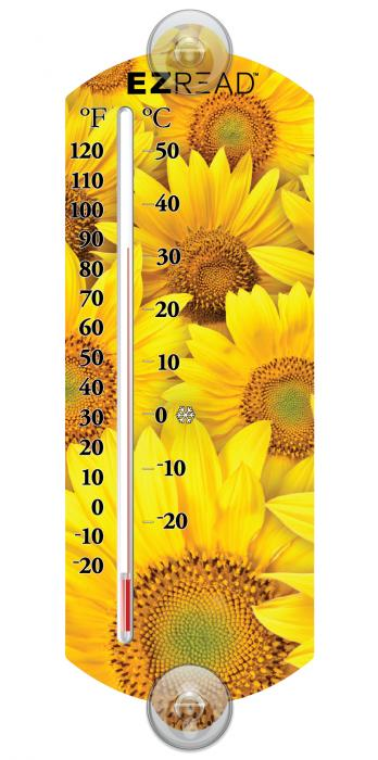 Headwind Sunflower Window Thermometer