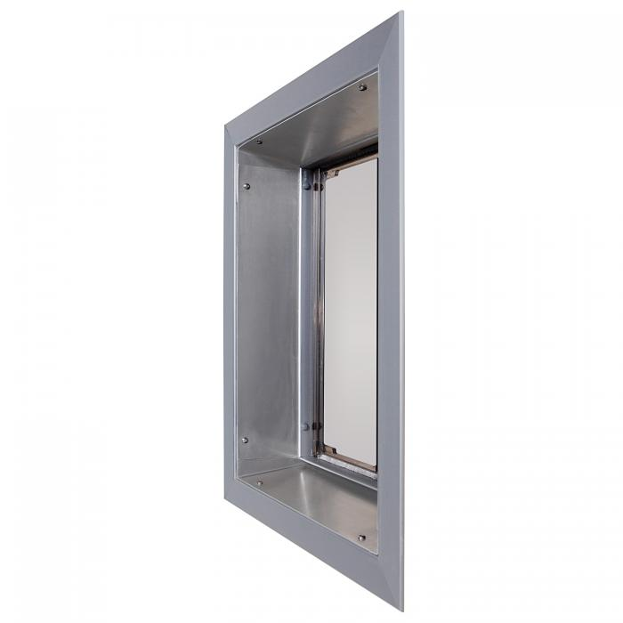 PlexiDor Large Exterior Wall Unit Performance Pet Door, Silver