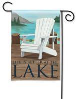 Magnet Works Lake Life Garden Flag