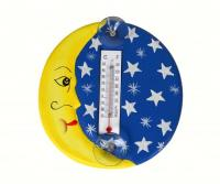 Songbird Essentials Crescent Moon & Stars Small Window Thermometer