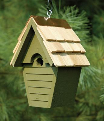 Heartwood Wren-In-The-Wind Birdhouse, Pinion Green