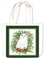 Alice's Cottage Snowy Owl Gift Tote