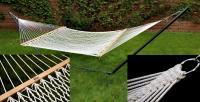Bliss Hammocks Classic Cotton Rope Hammock - Canvas White