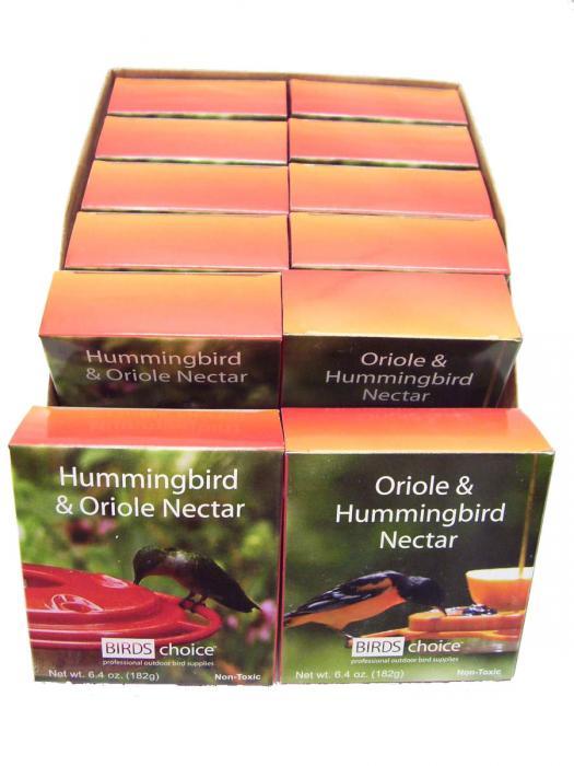 Birds Choice Hummingbird & Oriole Nectar (Case of 12 - 8oz Packages)