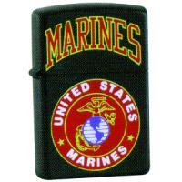 Zippo Black Matte, US Marines