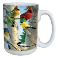 Tree Free Greetings Favorite Songbirds Mug, 15 oz