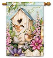 Magnet Works Cottage Birdhouse Standard Flag