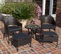 Campeche All Weather Wicker 5pc Bistro Set