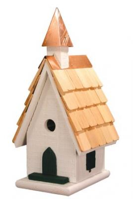 Heartwood Country Wildwood Church Birdhouse, White