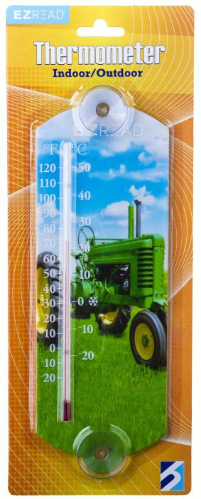 Headwind Green Tractor Window Thermometer