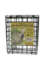 Bird's Choice Block Cage Seed & Suet Feeder