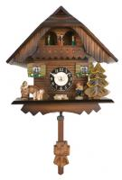 "River City  7"" Painted Chalet with Dancers Cuckoo Clock"