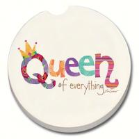 Counter Art Queen of Everything Car Coaster