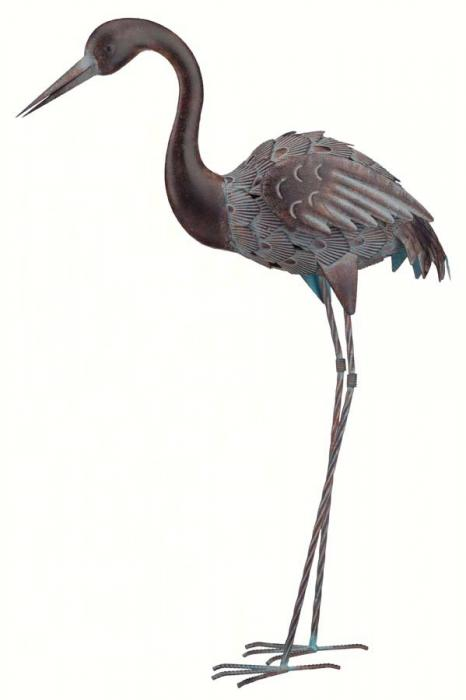 Regal Art & Gift Bronze Crane 32.5 inch, Down
