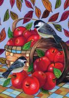 Toland Apple Basket Garden Flag