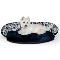 Plush Bolster Sleeper Pet Bed - Zebra