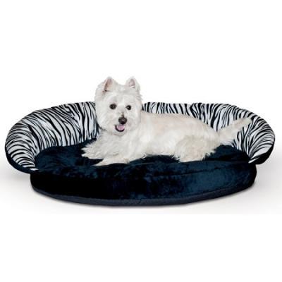 Plush Bolster Sleeper Pet Bed - Zebra