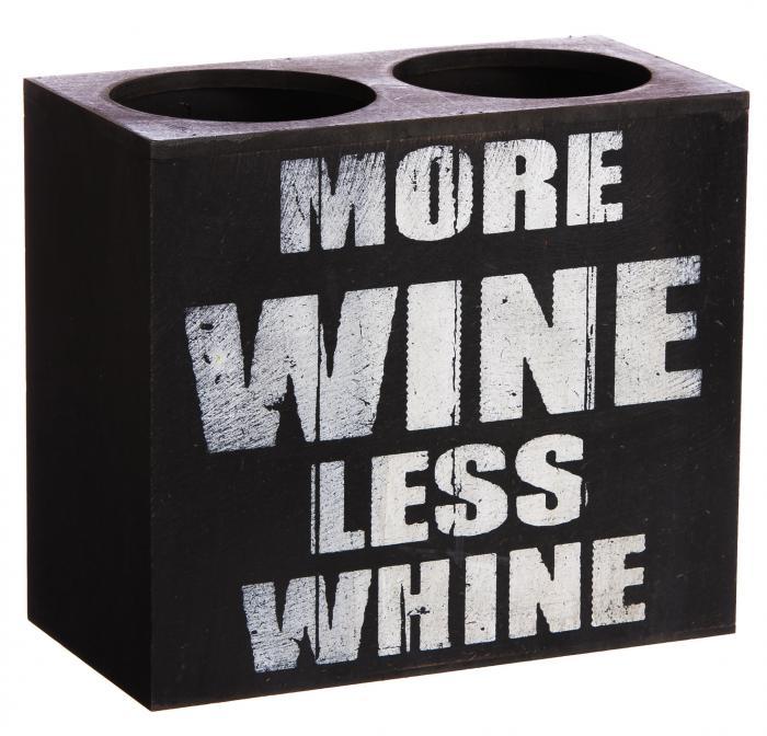Evergreen Enterprises More Wine Double Wine Bottle Holder, Plock