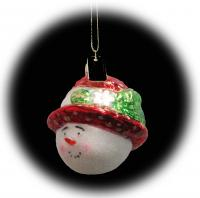 Cobane Studio Strawhat Snowgirl Red Ornament