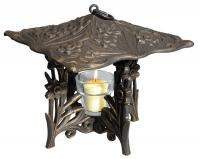 Daffodil Twilight Lantern - Oil Rub Bronze