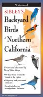 Steven M. Lewers & Associates Sibley's Backyard Birds of Northern California