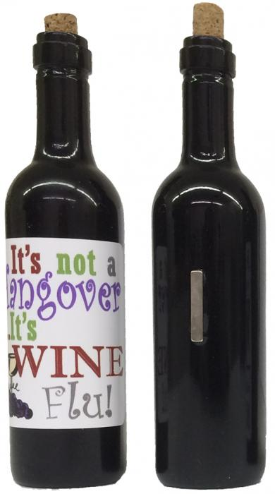 Grape Memories It's not a hangover, its wine flu Clever Saying Magnet