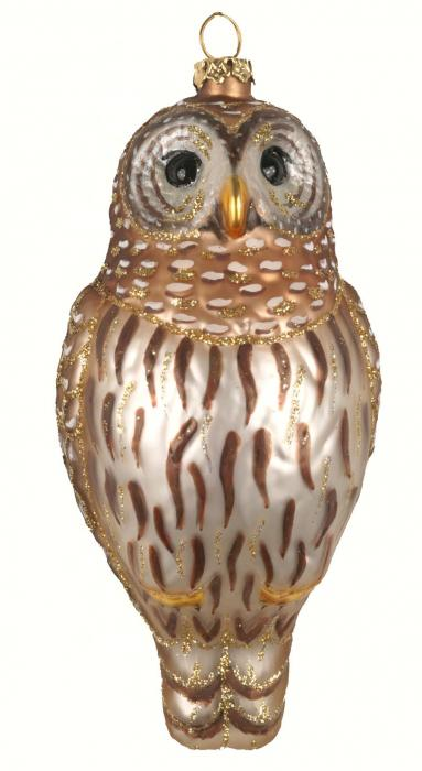 Cobane Studio Barred Owl Ornament