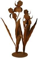 Patina Products Large Iris Garden Sculpture