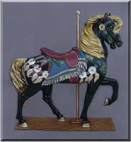Royal Stander Black Carousel Horse