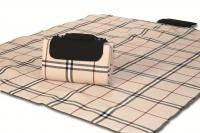 "Mega Mat Folded Picnic Blanket with Shoulder Strap - 68"" x 82"" (Beige Traditional)"
