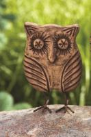 Ancient Graffiti Standing Owl Small
